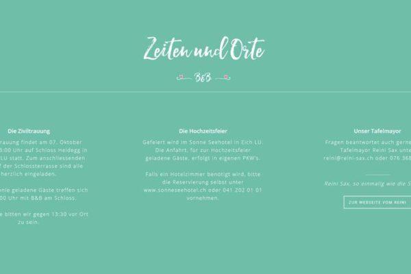 dates & times segment